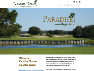 Paradise Homes screen capture