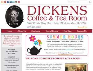 Dickens Coffee and Tea Room screen capture