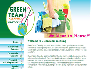Green Team Cleaning screen capture