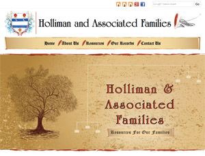 Holliman and Associated Families screen capture