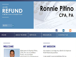 Ronnie Pitino, CPA screen capture