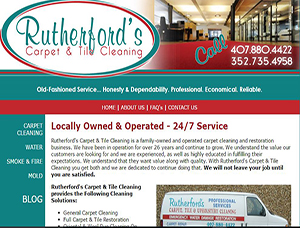 Rutherford's Carpet and Tile Cleaning screen capture