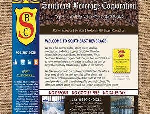 Southeast Beverage Corporation screen capture